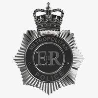 3d uk police helmet badge
