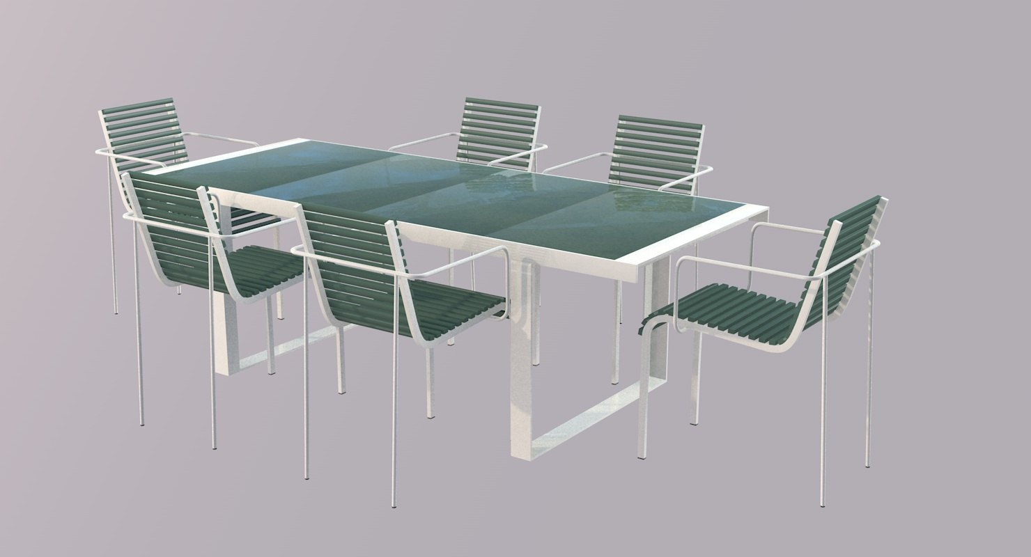 furniture table 3d 3ds