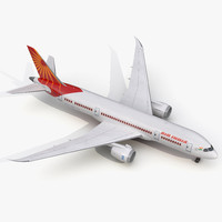 boeing 787 8 air india 3d model
