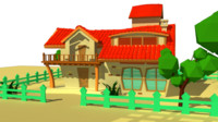 cartoon villa fbx