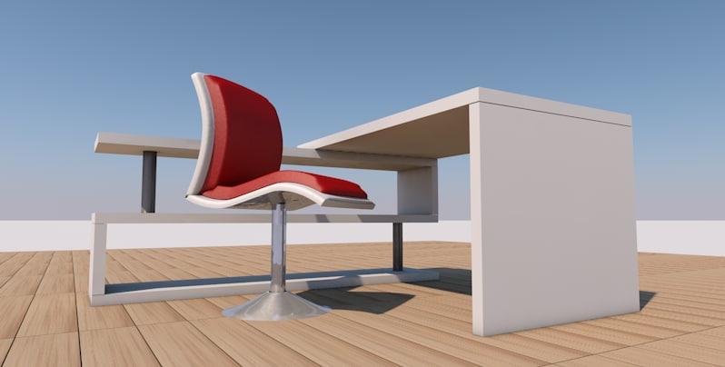 3d minimalist office