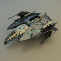 spacecraft fighter 3d model