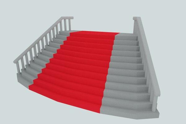 stair red carpet obj
