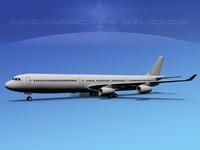 3d model a340-600 airbus a340