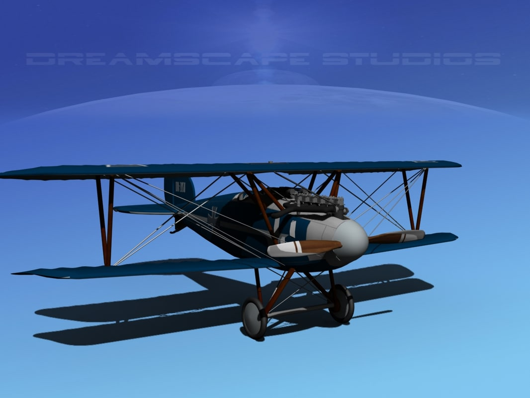3d model albatross fighter diii
