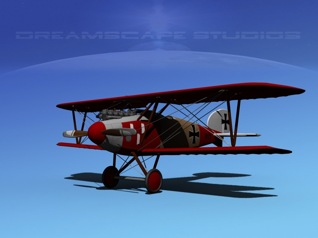 3d max albatross fighter diii