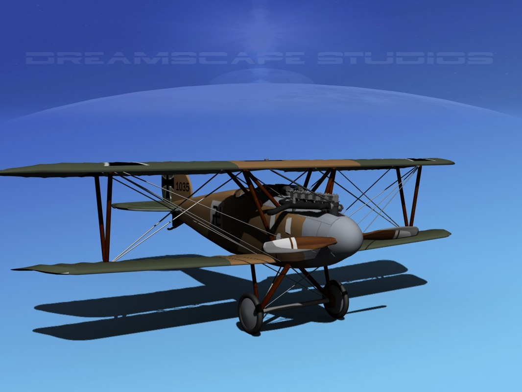 3d albatross fighter diii model