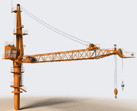 3d crane construction oil rigs