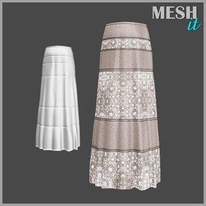 skirt brown 3d model