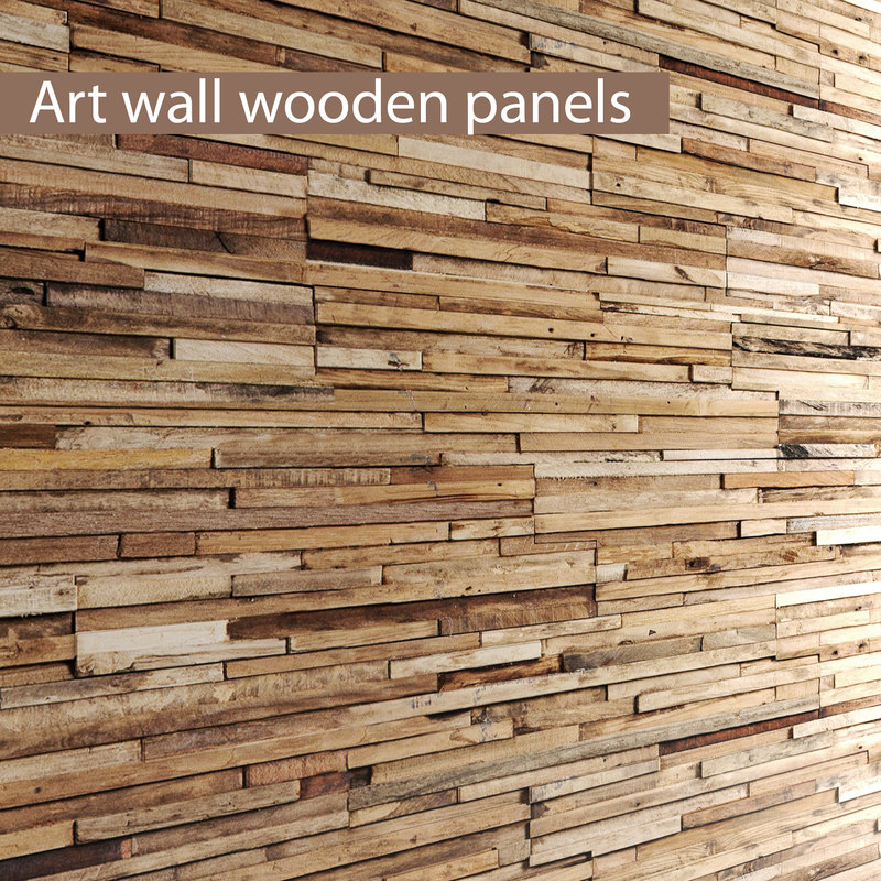 max art wall wooden planks