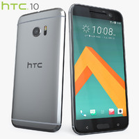 3d model of htc 10 glacier silver