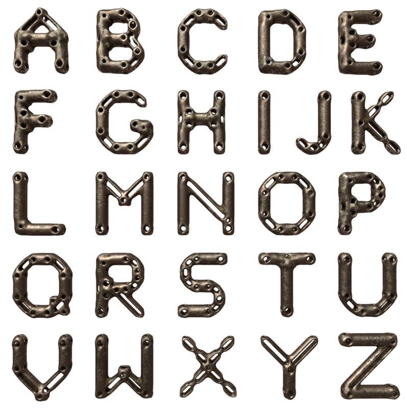 3d model font