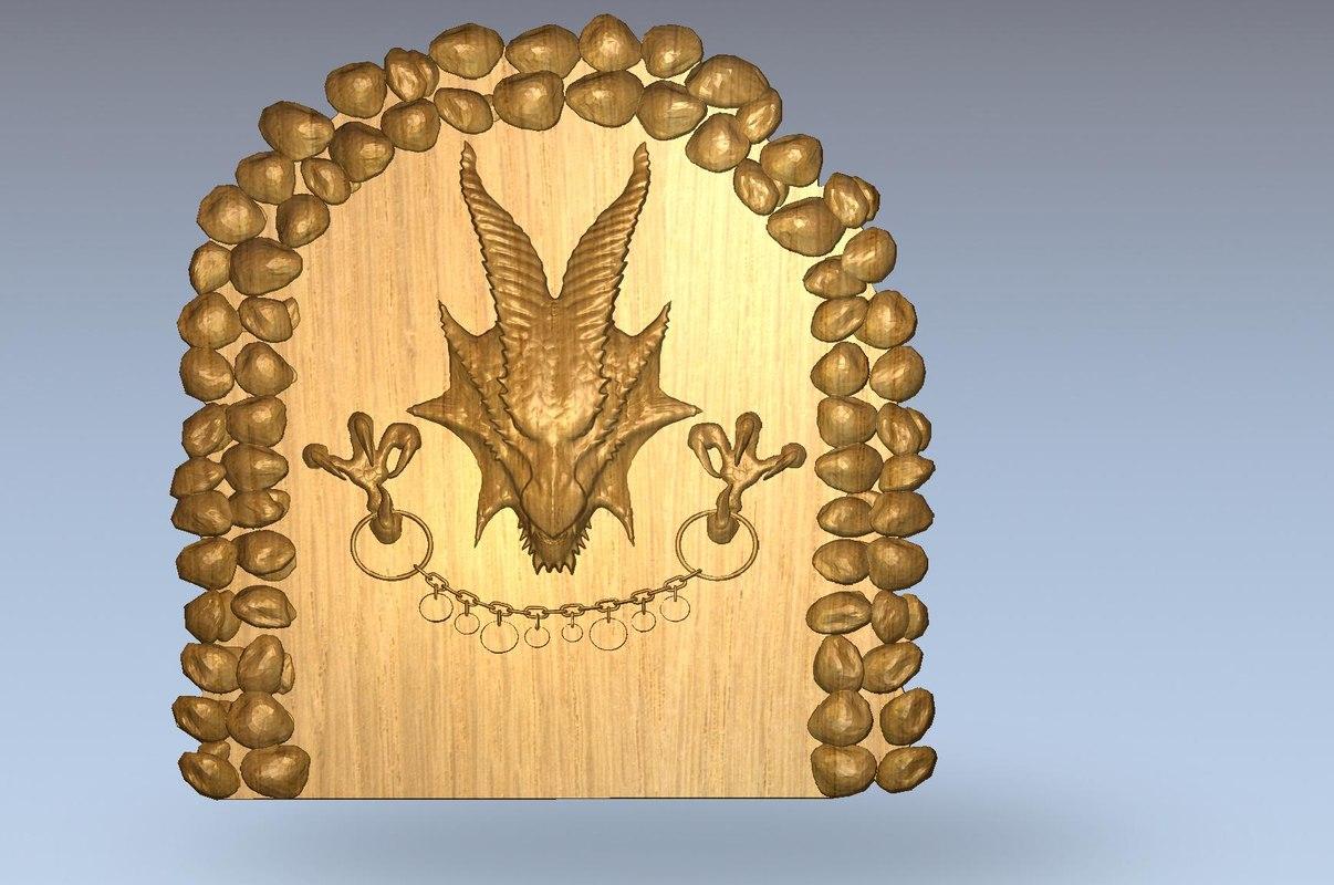 3d dragon cnc model