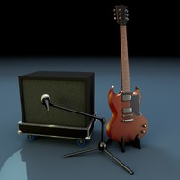 Guitar and amp