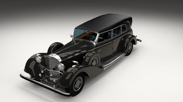 mercedes 770k hdri 3d model