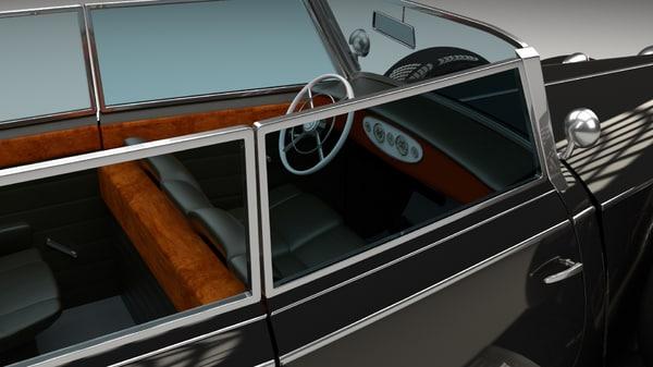 3d model mercedes 770k hdri