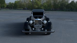 3d model mercedes hdri