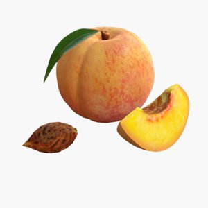 obj peach realistic real
