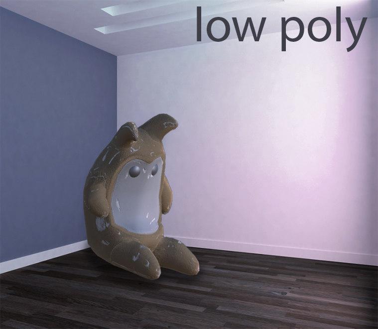 3d cuddly toy model