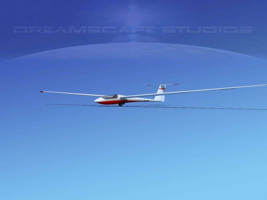 3d asw 22 sailplane