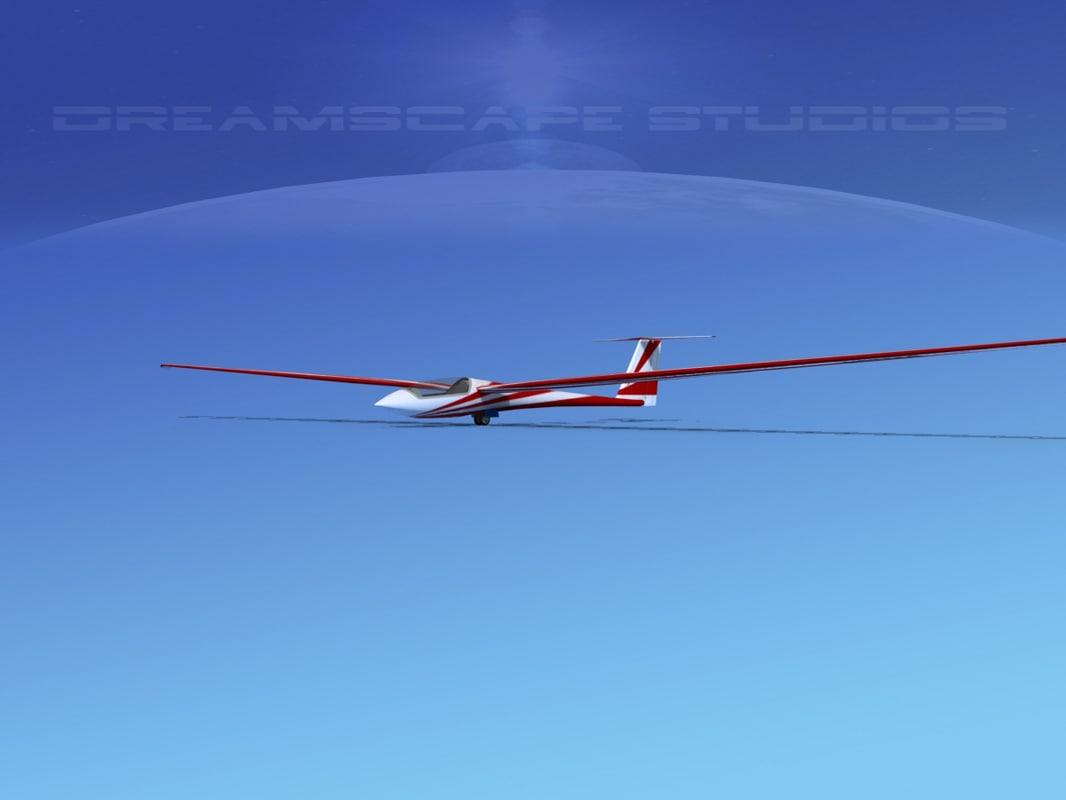 asw 22 sailplane 3ds