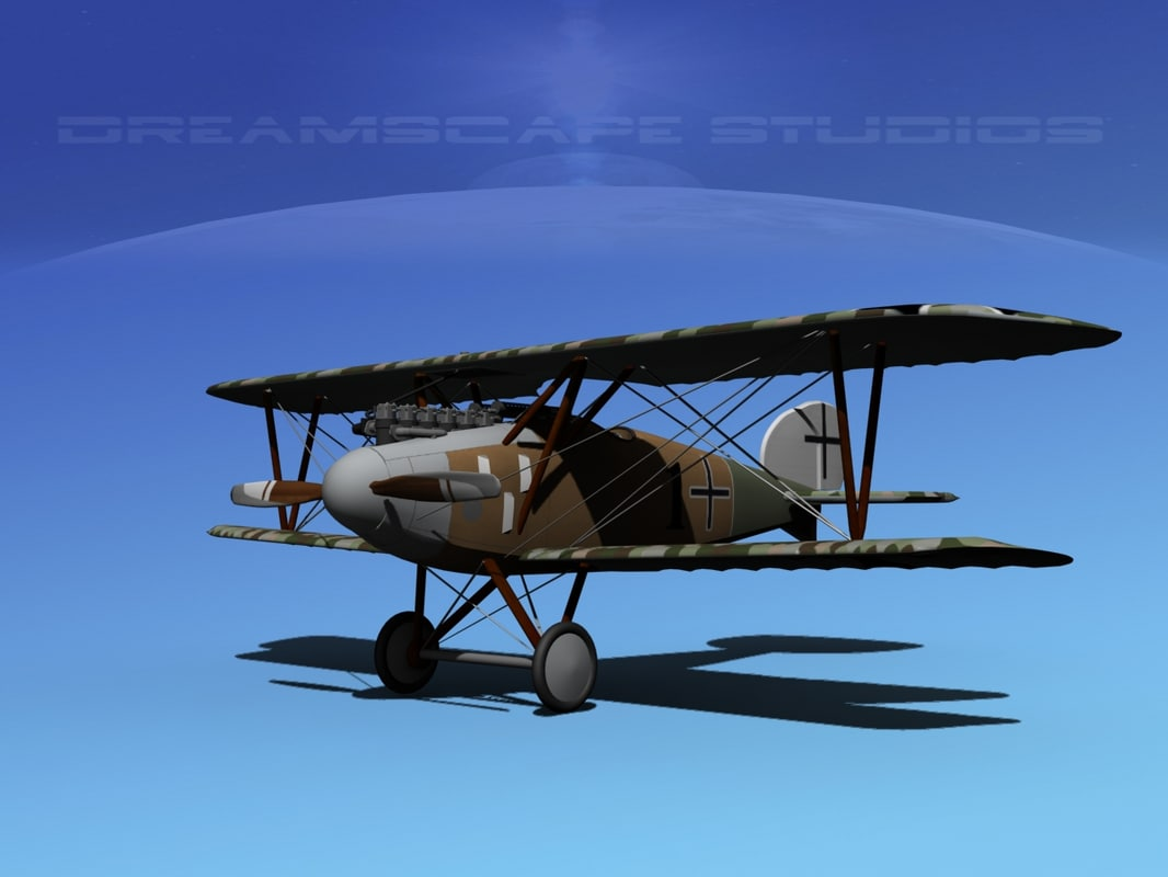 albatross fighter diii 3d model