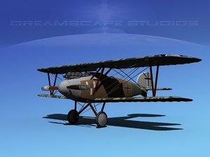 albatross fighter diii 3d model