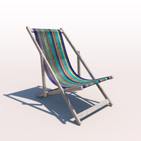 deck chair - contemporary 3ds