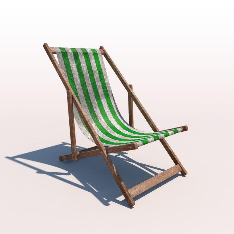 c4d deck chair - green