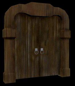 mysterious door 3d model