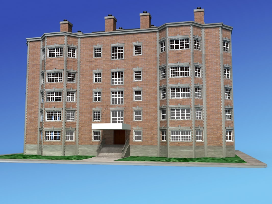 apartment building 3d model