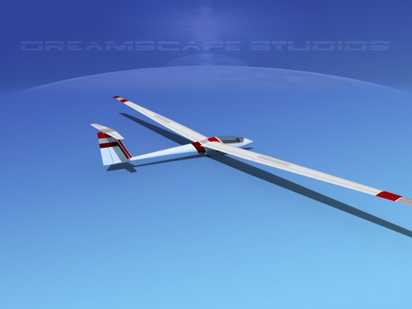 asw 22 sailplane dxf