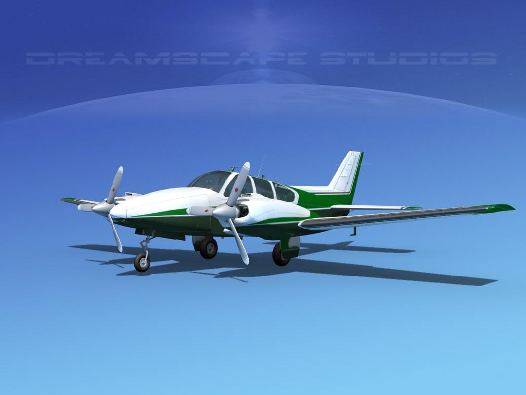 beechcraft aircraft family 3d max