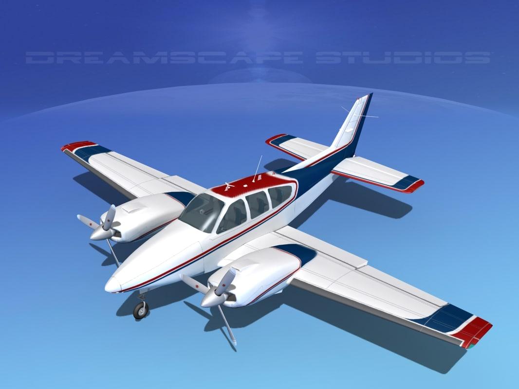 3d beechcraft aircraft family model