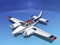 3d beechcraft aircraft family model