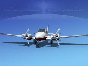 3d model beechcraft aircraft family