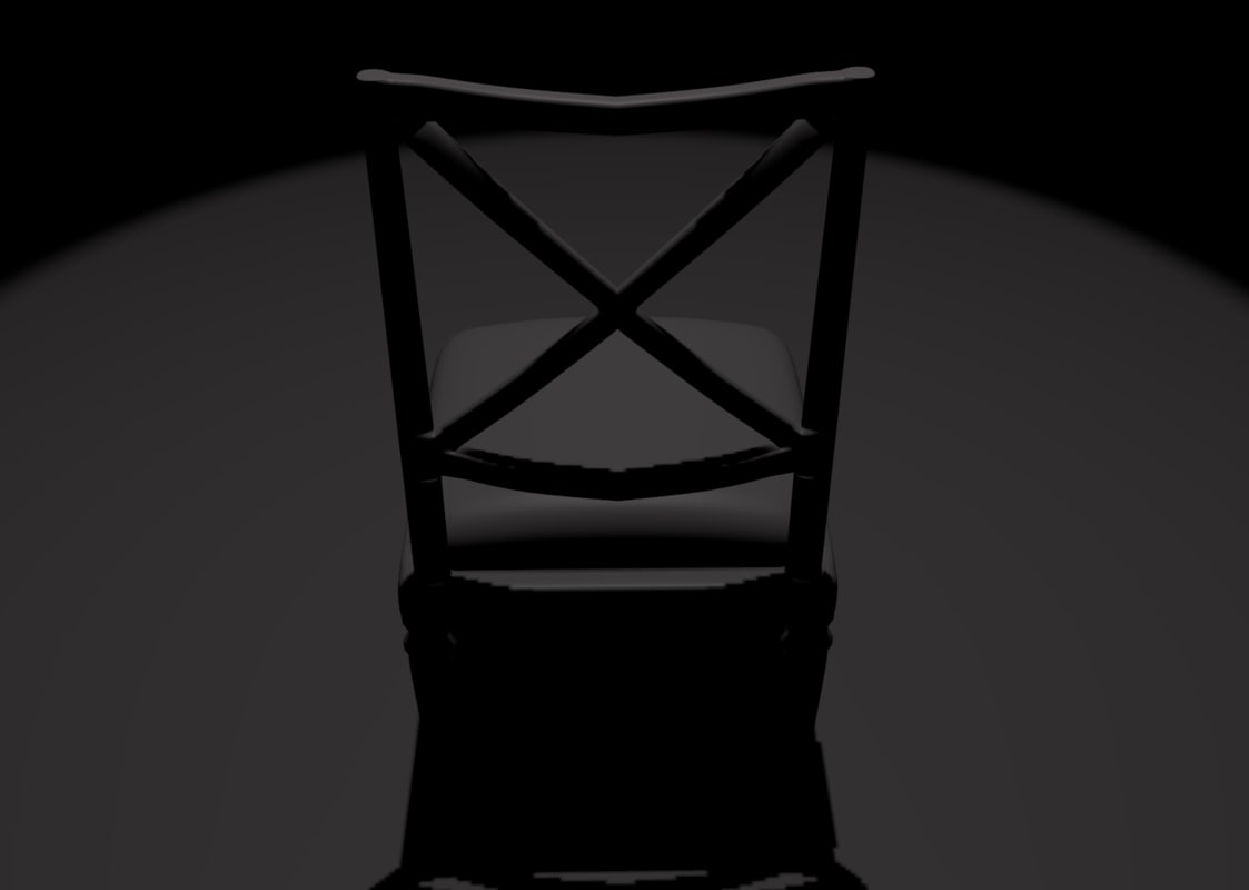 3d model simple chair