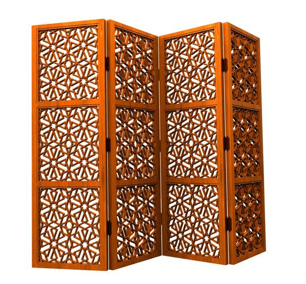 3d islamic folding screen model