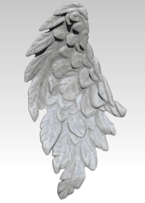 obj angel bird wing