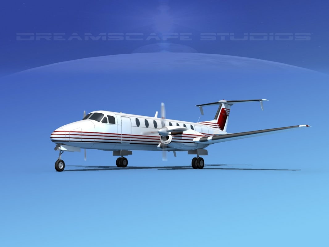 3d model of beechcraft 1900c