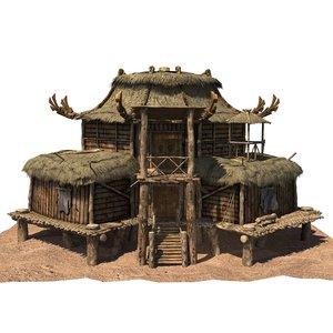 x wood house