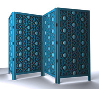 islamic folding screen 3d max