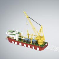 pipelay crane vessel sk x