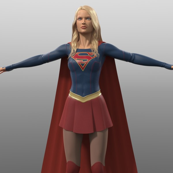 supergirl costume tv series 3d obj