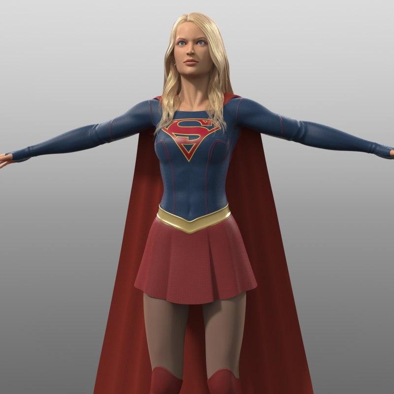 supergirl costume tv series 3d obj