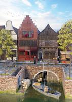 dutch medieval street 3d x