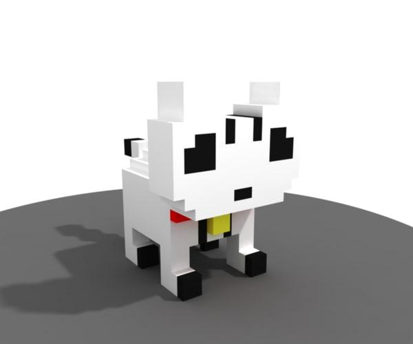3d voxel cat