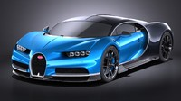 Bugatti Chiron 2017 without interior