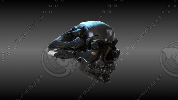 skull ring 3d max