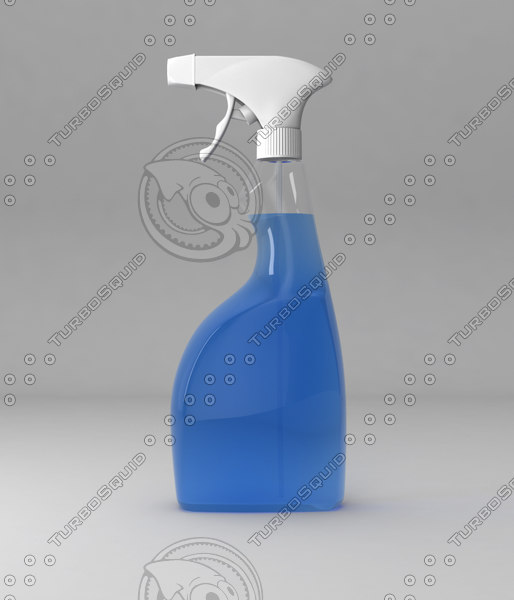 bottle spray sprayer 3d model